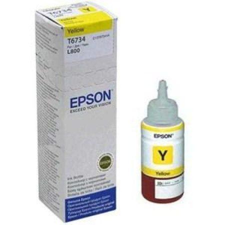 Epson T6734 Tinta Yellow 70ml (Eredeti) L800, L805, L810, L850, L1800