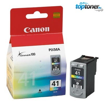 CANON CL41 (CL-41) COLOR EREDETI TINTAPATRON IP1200, IP1300, IP1600, IP1700, IP1800, IP1900, IP2400, MP140, MP150, MP160, MP170, MP180, MP190, MP210, MP450, MX300, MX310