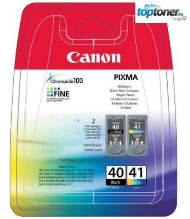 CANON PG40/CL41 EREDETI TINTAPATRON MULTIPACK IP1200, IP1300, IP1600, IP1700, IP1800, IP1900, IP2400, MP140, MP150, MP160, MP170, MP180, MP190, MP210, MP450, MX300, MX310