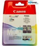 Canon PG510+CL511 Eredeti Tintapatron Multipack iP2700, MP230, MP240, MP250, MP260, MP270, MP280, MP282, MP480, MP490, MP495, MX320, MX330, MX340, MX350, MX360, MX410, MX420