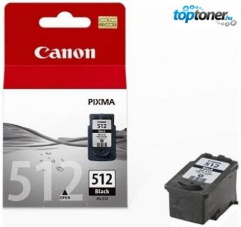 Canon PG512 Bk (PG-512) fekete tintapatron iP2700, MP230, MP240, MP250, MP260, MP270, MP280, MP282, MP480, MP490, MP495, MX320, MX330, MX340, MX350, MX360, MX410, MX420