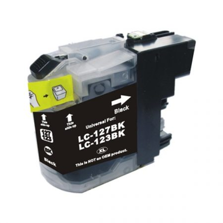 HQ Premium Compatible Brother LC123 BLACK Ink Cartridge DCPJ552DW, DCPJ752DW, DCPJ4110DW, MFCJ470DW, MFCJ650DW, MFCJ870DW, MFCJ4410DW, MFCJ4510DW, MFCJ4610DW, MFCJ4710DW, MFCJ6920DW