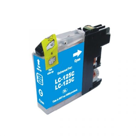 HQ Premium Compatible Brother LC123 CYAN Ink Cartridge DCPJ552DW, DCPJ752DW, DCPJ4110DW, MFCJ470DW, MFCJ650DW, MFCJ870DW, MFCJ4410DW, MFCJ4510DW, MFCJ4610DW, MFCJ4710DW, MFCJ6920DW