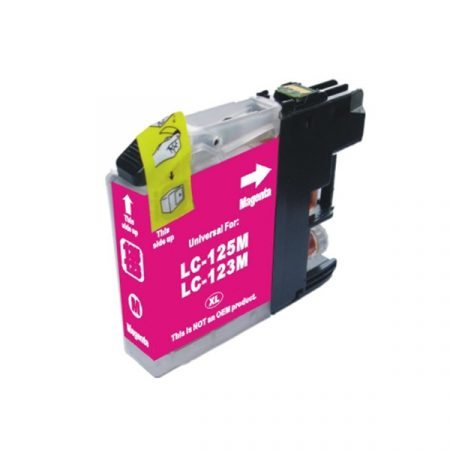 HQ Premium Compatible Brother LC123 MAGENTA Ink Cartridge DCPJ552DW, DCPJ752DW, DCPJ4110DW, MFCJ470DW, MFCJ650DW, MFCJ870DW, MFCJ4410DW, MFCJ4510DW, MFCJ4610DW, MFCJ4710DW, MFCJ6920DW