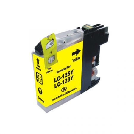 HQ Premium Compatible Brother LC123 YELLOW Ink Cartridge DCPJ552DW, DCPJ752DW, DCPJ4110DW, MFCJ470DW, MFCJ650DW, MFCJ870DW, MFCJ4410DW, MFCJ4510DW, MFCJ4610DW, MFCJ4710DW, MFCJ6920DW