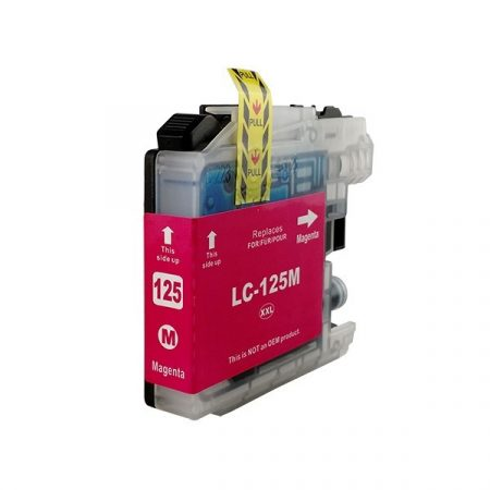 HQ Premium Compatible Brother LC127XL LC125XL MAGENTA Ink Cartridge MFC-J4110, MFC-J4410, MFC-J4510, MFC-J4610, MFC-J4710