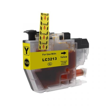 HQ Premium Compatible Brother LC3213 LC3211 YELLOW Ink Cartridge with CHIP DCP-J772DW, DCP-J774DW, MFC-J890DW, MFC-J895DW