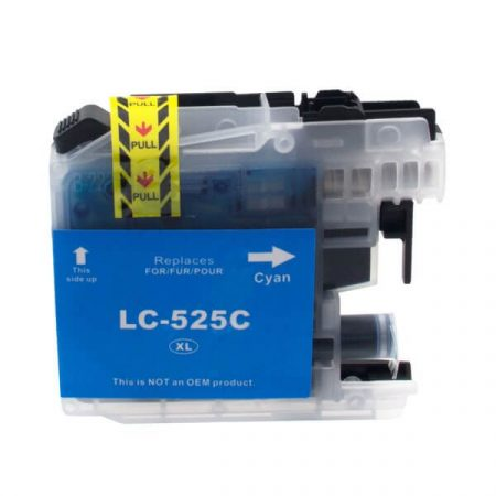 HQ Premium Compatible Brother LC525XL CYAN Ink Cartridge with CHIP MFC-J200, DCP-J100, DCP-J105