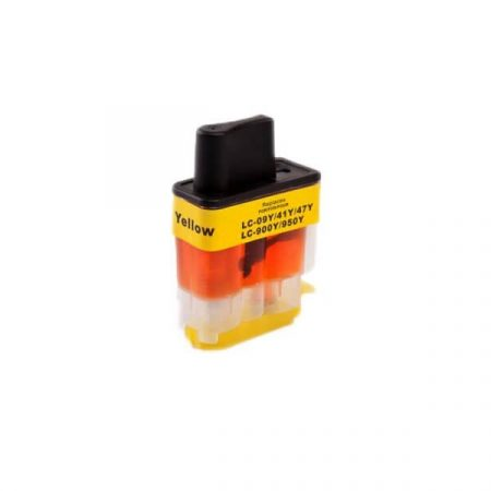 TOPTONER UTÁNGYÁRTOTT BROTHER LC900 YELLOW (Y@15 ml) KOMPATIBILIS TINTAPATRON DCP110, DCP115, DCP310, DCP315, DCP340D, DCP120, MFC210, MFC215, MFC3240, MFC3340