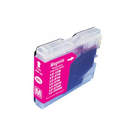 HQ PREMIUM BROTHER LC1000 LC970 MAGENTA (M@20 ml) UTÁNGYÁRTOTT TINTAPATRON DCP135, DCP150, MFC235, MFC260, DCP330, DCP350, MFC680, MFC845