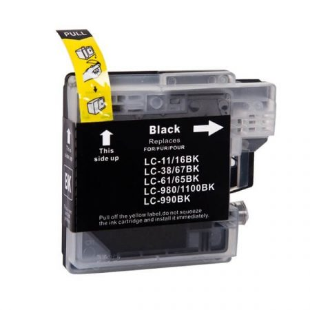 HQ Premium Compatible Brother LC1100 LC980 BLACK Ink Cartridge DCP145, DCP165, DCP185, DCP195, DCP375, DCP585, MFC250, MFC290, MFC5490, MFC6890