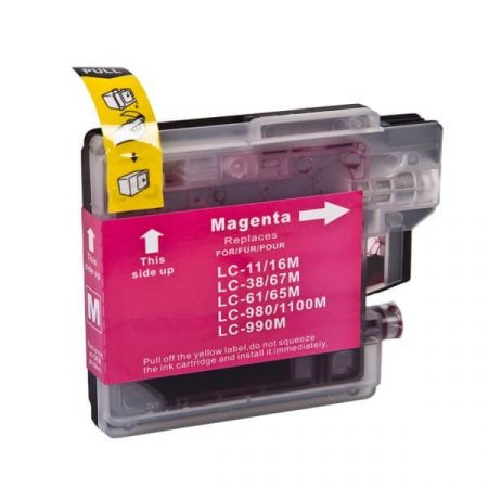 HQ PREMIUM BROTHER LC1100 LC980 MAGENTA (M@12 ml) UTÁNGYÁRTOTT TINTAPATRON DCP145, DCP165, DCP185, DCP195, DCP375, DCP585, MFC250, MFC290, MFC5490, MFC6890