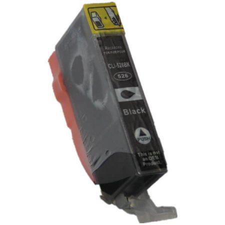 HQ PREMIUM CANON CLI526 (CLI-526) BLACK (BK@11 ml) CHIPES UTÁNGYÁRTOTT TINTAPATRON iP4800, iP4850, iP4900, iP4950, iX6550, MG5150, MG5250, MG5350, MG6150, MG6250, MG8150, MG8250, MX885