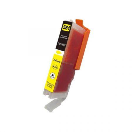 HQ PREMIUM CANON CLI581XXL (CLI-581XXL) YELLOW (Y@13 ml) CHIPES UTÁNGYÁRTOTT TINTAPATRON TS6150, TS6151, TS8150, TS8151, TS8152, TS9150, TS9155, TR7550, TR8550