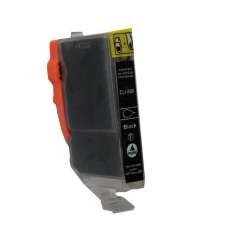 HQ PREMIUM CANON CLI8 (CLI-8) BLACK (BK@14 ml) CHIPES UTÁNGYÁRTOTT TINTAPATRON iP3500, iP4200, iP4300, iP4500, iP5200, iP5300, iP6600, iP6700, iX5000, MP500, MP510, MP600, MP800, MX700