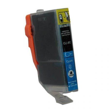 HQ PREMIUM CANON CLI8 (CLI-8) CYAN (C@14 ml) CHIPES UTÁNGYÁRTOTT TINTAPATRON iP3500, iP4200, iP4300, iP4500, iP5200, iP5300, iP6600, iP6700, iX5000, MP500, MP510, MP600, MP800, MX700