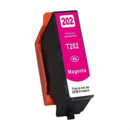 HQ PREMIUM EPSON 202XL MAGENTA (M@13 ML) (T02F34010, T02H34010, T02H3) CHIPES UTÁNGYÁRTOTT TINTAPATRON XP-6000, XP-6005
