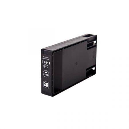 TOPTONER UTÁNGYÁRTOTT EPSON T7011 BLACK (BK@72 ml) KOMPATIBILIS TINTAPATRON CHIPES WP4015, WP4025, WP4095, WP4525, WP4545, WP4535, WP4515, WP4595